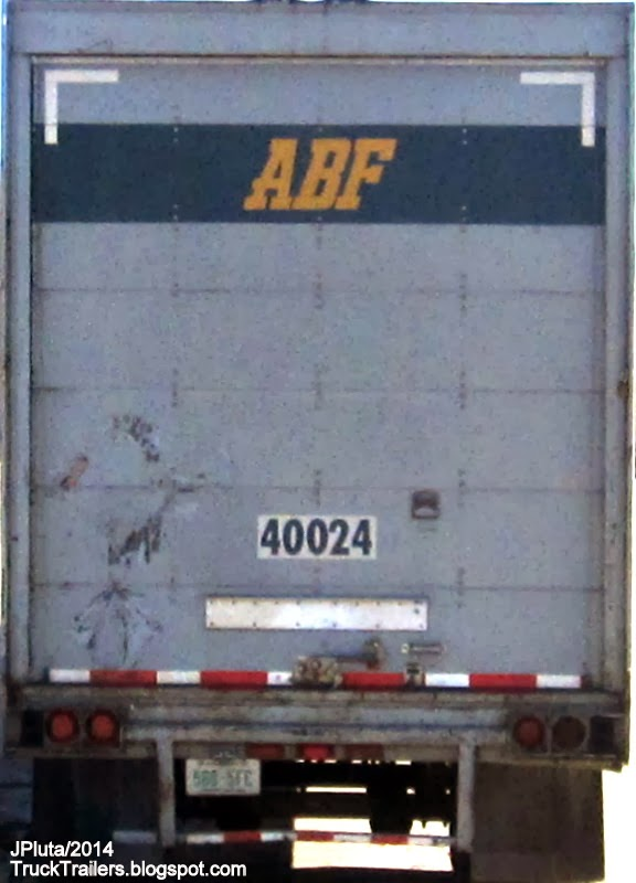 ABF Freight Systems Fort Smith Arkansas, Great Dane Dry Van Trailer Rear Roll Up Door Georgia Truck Stop, ABF Trucking Company AR.